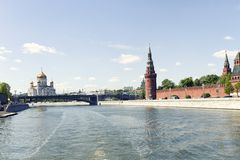 взгляд kremlin moscow России Стоковая Фотография