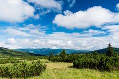Взгляд Krkonose & x28; Гигант Mountains& x29; Стоковые Изображения