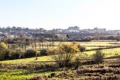 Взгляд Lanscape сельской местности в Великобритании Стоковая Фотография RF