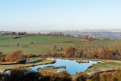 Взгляд Lanscape сельской местности в Великобритании Стоковые Изображения RF