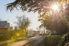 Взгляд Lanscape сельской местности в Великобритании Стоковые Фотографии RF