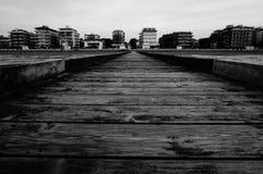 Взгляд Lido di Jesolo от Адриатического моря Стоковые Фотографии RF