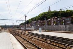 Взгляд Liege от железнодорожного вокзала Стоковое фото RF