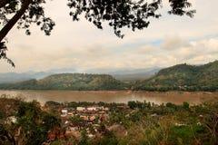 Взгляд Luang Prabang (Лаос) Стоковые Фото