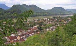 Взгляд Luang Prabang от горы Phousi Стоковое Изображение