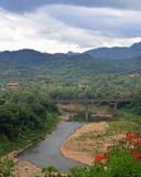 Взгляд Luang Prabang от горы Phousi Стоковое Фото