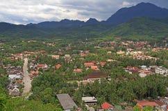 Взгляд Luang Prabang от горы Phousi Стоковые Изображения