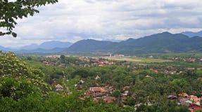 Взгляд Luang Prabang от горы Phousi Стоковая Фотография