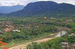 Взгляд Luang Prabang от горы Phousi Стоковое Изображение RF