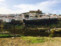 Взгляд Mértola Португалии города Стоковое Изображение RF
