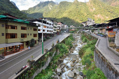 Взгляд Machupicchu или Aguas Calientes Стоковые Фото