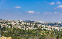 Взгляд Mevaseret Сиона Иерусалима стоковые фото