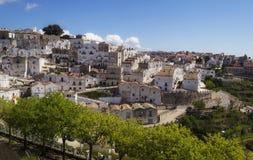 Взгляд Monte Sant'Angelo (Apulia - Gargano) Стоковое Изображение RF