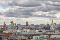 взгляд moscow панорамный Стоковое Фото