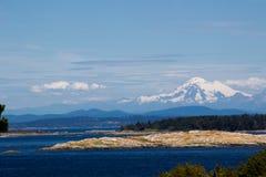 Взгляд Mt более ненастный от Виктории, ДО РОЖДЕСТВА ХРИСТОВА стоковые фотографии rf