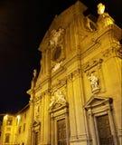 Взгляд Nighttime собора Флоренса Стоковое фото RF