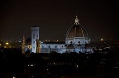Взгляд nocturne Флоренса Стоковые Изображения