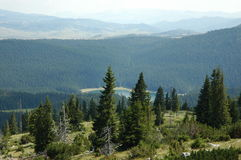 Взгляд Panaroamic для того чтобы почернить озеро Стоковое Фото