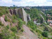 Взгляд Panoramatic долины Prokopske в Праге Стоковое Изображение RF