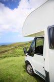 Взгляд parkes располагаясь лагерем автомобиля взморьем Стоковое фото RF