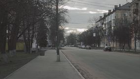 Взгляд perecrest в центре города ares Автобусная остановка сток-видео