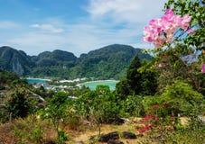 Взгляд Phi Дон Phi острова от пункта просмотра, Стоковое Изображение RF