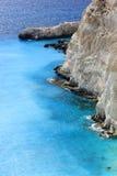 Взгляд Plakaki, западное побережье острова Zante Стоковые Фотографии RF