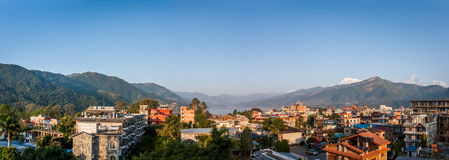Взгляд Pokhara, Непала стоковые изображения