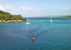Взгляд Port Vila к острову Iriki стоковые фотографии rf