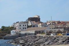 Взгляд Portoscuso, Сардинии Стоковые Изображения RF
