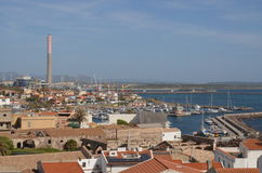 Взгляд Portoscuso, Сардинии Стоковое Изображение RF