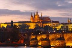 взгляд prague замока взгляд городка республики cesky чехословакского krumlov средневековый старый Стоковые Изображения RF