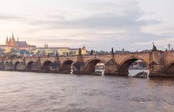 взгляд prague замока взгляд городка республики cesky чехословакского krumlov средневековый старый Стоковая Фотография RF