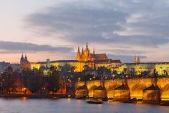 взгляд prague замока взгляд городка республики cesky чехословакского krumlov средневековый старый Стоковое Изображение