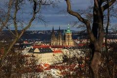 взгляд prague замока Стоковое Изображение RF