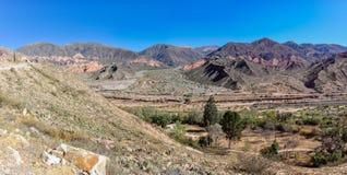 Взгляд Quebrada de Ла Humahuaca, Аргентины Стоковая Фотография