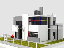 Взгляд Rietveld Schroder восточный бесплатная иллюстрация