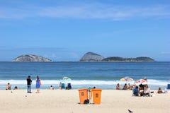 взгляд rio janeiro Бразилии de ipanema пляжа Стоковое Фото