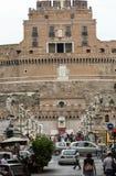 взгляд rome castel angelo sant Стоковое фото RF