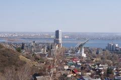 взгляд saratov города осени панорамный Стоковое Изображение