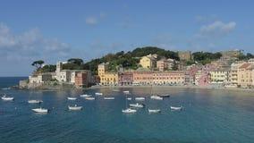 Взгляд Sestri Levante Италия сток-видео