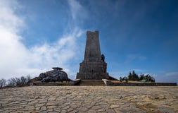 взгляд shipka Болгарии мемориальный стоковое фото