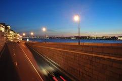 взгляд st petersburg ночи Россия Стоковое Фото