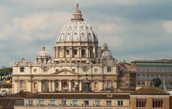 взгляд st vatican Италии peter базилики Стоковая Фотография