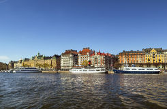 Взгляд Strandvagen, Стокгольма Стоковое фото RF