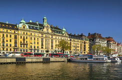Взгляд Strandvagen, Стокгольма Стоковые Фотографии RF