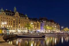 Взгляд Strandvagen, Стокгольма Стоковая Фотография RF
