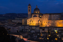 взгляд urbino городка места области s Италии Марша наследия города огородил мир Стоковое Изображение