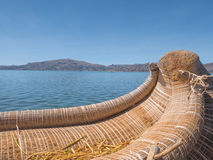 Взгляд Uros плавая камышовые острова, озеро Titicaca, зона Puno, Перу Стоковая Фотография