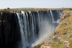 Взгляд Victoria Falls панорамный, Zimbawe стоковые изображения rf